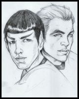 Spock and Kirk XI by absynthia