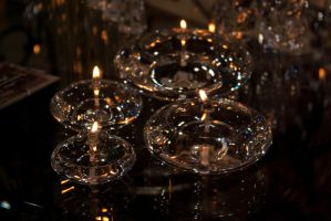 Sparkling candle lights by steppelandstock