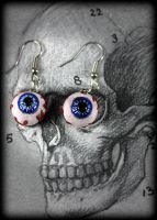 Eyeball and Chain Earrings by NeverlandJewelry