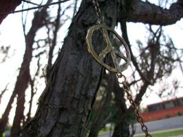 Peace sign on tree. by KristineAdelia