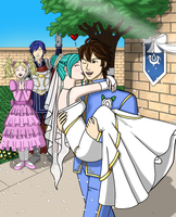 An Awakening Wedding!  Frederick and Female Avatar by Great-Aether