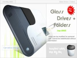 Glass Drives + Folders by Carvetia