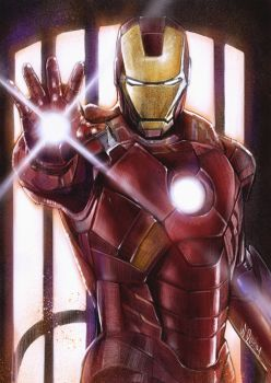 commission project for IRONMAN fan Art painting by wallacedestiny