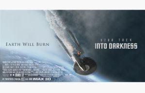 STAR TREK INTO DARKNESS QUAD POSTER by tanman1