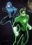 BLUE LANTERN BARRY and GREEN LANTERN HAL by sherrill018