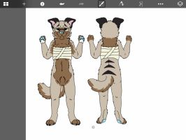 :wip: tanner 2015 official anthro reference by AgentAnarchy