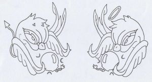 my sparrow tattoo designs by DARK-PYRO