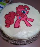 Pinkie Pie Cake by TheInsanityZone