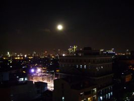 Moon over makati by LordThanatos