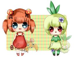 Grass pokemon gijinka's [CLOSED] by LushiAdopts