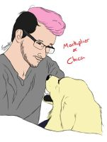 Markiplier and Chica by meerkat--love