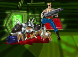 Duke Nukem Vs. Battlelord by Cybopath