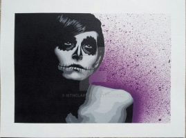 Day Of The Dead Girl by iStncLart