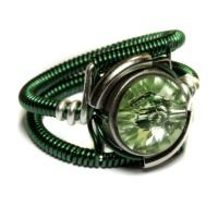 Cyberpunk Green Ring by CatherinetteRings