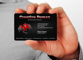 Creative Demon Business Card by marvnation