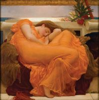 Flaming June by Fredrick Lord Leighton (1830-1896) by NIMArchitect