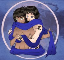 TMI - Malec - Magnus and Alec Blue Scarf by Felwyn