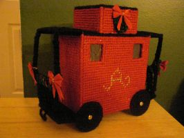 Christmas Train Caboose by shaunnaf