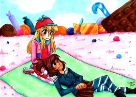 London and Maddie Relaxing in Sugar Rush by SonicPossible00