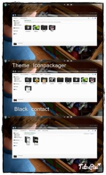 Tema Iconpackager Black Contact by TutosPixi