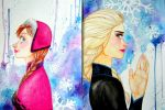 Anna and Elsa by Likeflowerinthefield