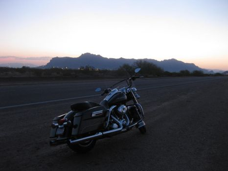 Arizona Sunrise with bike 072614 02 by acurmudgeon