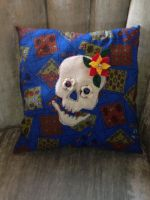 Day of the Dead Pillow $12 by InkyDreamz