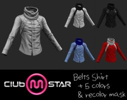 MStar Male Belts Shirt by XNAMall