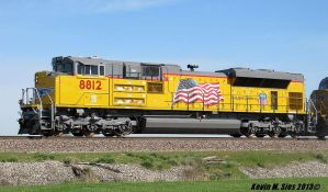Brand Spanking New UP SD70ACe 8812 on MPRPB train by EternalFlame1891