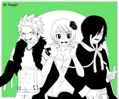 Rogue X Yukino X Sting FT by Timagirl