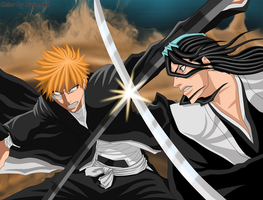 Bleach Ichigo vs. Byakuya by Ruymond