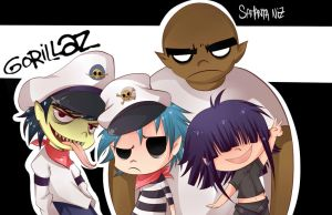Gorillaz by keitenstudio