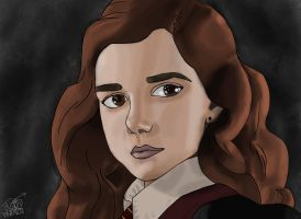 Hermione Granger by justinwharton