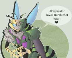 AT- Waspinator loves Bumblebot by chienoir