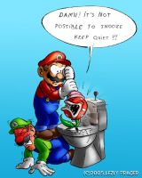 Famous plumbers at work by Zlydoc