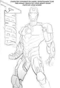 Iron Man Preliminary Pencils December 2016 by Bright-Raven