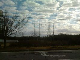 Clouds and Wires by WhyPiggieWhy