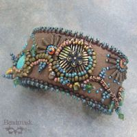 Canyon Country Beaded Cuff by Beadmask