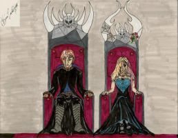 King Nevan and Queen Olivia by KibaDVahnGoth