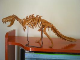 Origami T-rex Skeleton by Kosmu