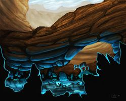 Glowing Cavern by Clerical-Error