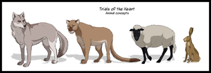 Various Animals - Concept art by Wild-Hearts