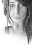 First Portrait in Greyscale by J0YU