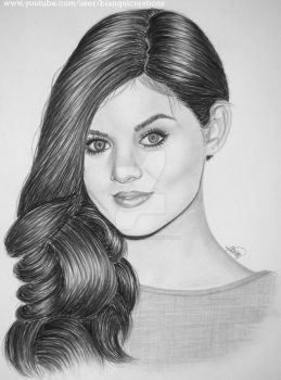 Lucy Hale Portrait by bianqui-creates