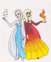Ice and Fire by 13foxywolf666