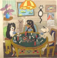 Completed Poker Dogs 3 by carouselfan