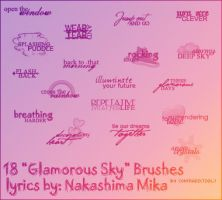 'Glamorous Sky' Lyrics by contradictz