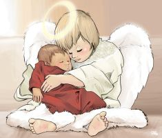Baby's Guardian Angel by christians