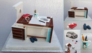 Desk Cake by ginas-cakes