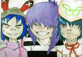 Noodle's evolution watercolors by marina-the-hedgehog